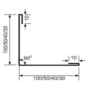 Угол наружный/внутренний 50*50*2000 мм. RAL8017(шоколад)
