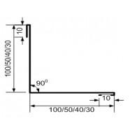 Угол внутренний 100*100*2000 мм. RAL1014(слоновая кость)