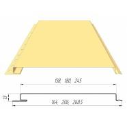 Панель (0,206 кв.м.) гладкая RAL1014(слоновая кость)