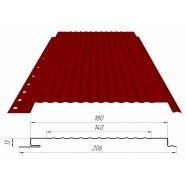 Панель (0,206 кв.м.) с волной RAL1014(слоновая кость)