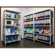 Стеллажи металлические и шкафы