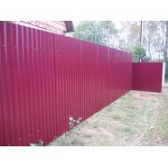 Забор из профнастила окрашенный