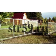 Забор из оцинкованной сетки-рабицы