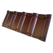 "Металлочерепица ""Венеция"" 0,5 RAL8017(шоколад)"