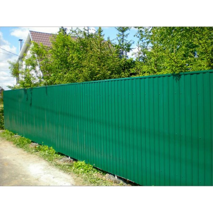 Забор из профлиста для дачи 46