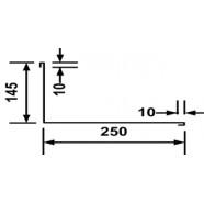 Планка примыкания верхняя 145*250*2000 мм. RAL3003(рубин)