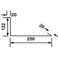 Планка примыкания нижняя 122*150*2000 мм. RAL3003(рубин)