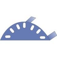 Заглушка конька круглого в комплекте с тремя саморезами