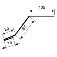 Карнизная планка 105*65 2500 мм. оцинкованная